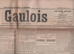 LE GAULOIS 06 03 1904 - TOMBOLA ARTISTES FRANCAIS - REVISION DREYFUS - MARINE - TOULON AMIRAL BIENAIME - QUARTIER LATIN - Informations Générales