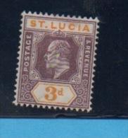 SAINTE LUCIE  - Yvert N° 44 - Ste Lucie (...-1978)