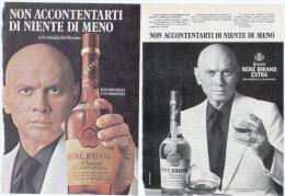 1974 - Brandy Rene Briand Jagermeister - 3 Pubblicità  Cm. 13,5 X 18,5 - Alcoolici