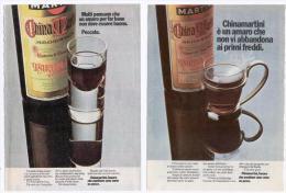 1970/74 - China Martini - 4 P. Pubblicità - Cm. 13 X18 - Alcoolici