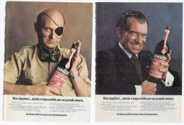 1974 - Amaro Ramazzotti - 2 Pubblicità Cm. 13,5 X 18,5 - Alcoolici