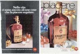 1974 - Amaretto Di Saronno - 2 Pubblicità Cm. 13,5 X 18,5 - Alcoolici