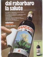 1974 - Rabarbaro Zucca - 1 Pubblicità Cm. 13 X 18 - Alcoolici