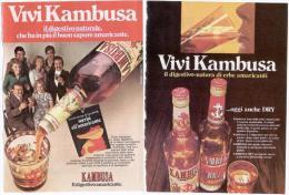 1970/73/74 - Kambusa - 6 P. Pubblicità Cm. 13 X 18 - Alcoolici
