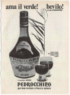 1974 - Liquore Pedrocchino - 1 Pagina Pubblicità Cm. 13 X 18 - Alcoolici