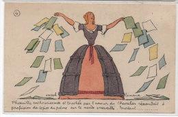Joseph HEMARD - Pub Carbone, Rubans, Encres,  Stencils - Femme Historique     (73364) - Andere Zeichner