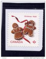 """CANADA, MNH, 2012, CHRISTMAS GINGERBREAD COOKIES, SINGLE """"P"""" FROM Booklet - Carnets"""