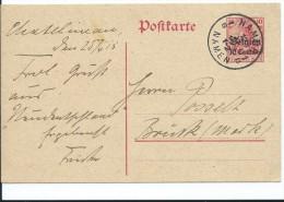OCCUPATION ALLEMANDE EN BELGIQUE ENTIER POSTAL NAMUR 1915 - Besetzungen 1914-18