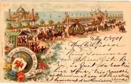 Souvenir De La Bataille De Fleurs De Nice - Timbre Y&T France N°103 - Cachet De Nice à Dieuze (Lorraine Occupée) - Karneval