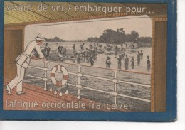 AFRIQUE OCCIDENTALE FRANCAISE - Dépliant Publicitaire,Format CPA, Mauritanie,Sénégal,Guinée Française,Voir SCAN - Unclassified