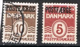 Dos Sellos DINAMARCA, Post Aerge, Num 235a Y 264a º/* - 1913-47 (Christian X)