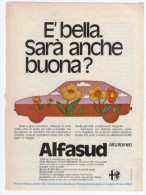 1974 - Automobili ALFASUD -  1 Pag Pubblicità Cm. 13x18 - Cars