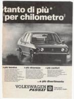 1974 - Automobili VOLKSWAGEN Passat  -  1 Pag Pubblicità Cm. 13x18 - Cars