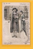 CELEBRITES / HISTOIRE / PERSONNAGES HISTORIQUES / FAUST, Suite De 6 Cartes Gaufrées Numérotées  De 1 à 6 / Précurseur - Personnages Historiques
