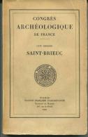Très Rare - Congrès Archéologique De France - Saint Brieuc - Saint Malo - Dinan - Bretagne - St Malo - Bretagne