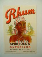 ETIQUETTE DE RHUM - SPIRITUEUX SUPERIEUR - DOMAINE DE TINTIGNY* - Rhum