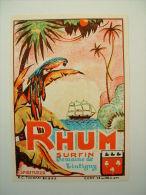 ETIQUETTE DE RHUM - SURFIN - DOMAINE DE TINTIGNY* - Rhum