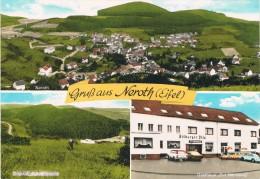 """NEROTH / EIFEL - Gasthaus - Pension """"Zur Neroburg"""" - Gruss Aus Neroth (Eifel) - Multi-vues - 2 Scans - Germany"""