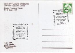 Italia 1994 Savona Convegno Filatelico PRIAMAR '94 Fortezza Del Priamar - Philatelic Exhibitions