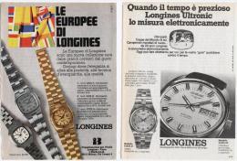 1974 - Orologio LONGINES -  2 Pagine Pubblicità Cm. 13 X 18 - Orologi Da Polso