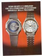 1974 - Orologio SEIKO - 3 Pagine Pubblicità Cm. 13 X 18 - Orologi Da Polso