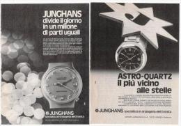 1970/74 - Orologio JUNGHANS - 3 Pagine Pubblicità Cm. 13 X18 - Orologi Da Polso