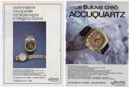 1974 - Orologio BULOVA - 4 Pagine Pubblicità Cm. 13 X 18 - Orologi Da Polso