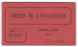 CARNET COMPLET DE 12 CARTES CIRCUIT DE L'AVALLONNAIS -  édition H. Couron (maru) - Avallon