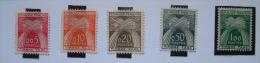 France 1960 Due Tax Stamps MINT Scott J93/97 = 74.75 $ - Wheat Harvest - Postage Due