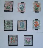 France 1964 Due Tax Stamps MINT Scott J98/105 - Flowers - Postage Due