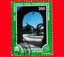 VATICANO  - Usato - 1995 - Natura - Musei Vaticani - 200 L. • Fontana, Ryngospernun - Used Stamps