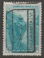 1945 50c Railway, Used, - 1942-1951