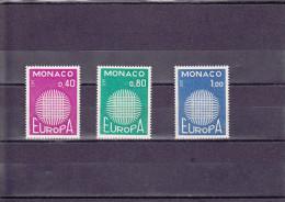 EUROPA UNE SéRIE DE 3 VAL NEUF **  N°  819/821 YVERT ET TELLIER 1970 - Monaco