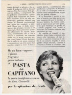 1974  - Dentifricio PASTA DEL CAPITANO -  1 Pubblicità Cm. 13,5 X 18,5 - Riviste