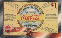 USA - Coca Cola, Sprint Promotion Prepaid Card $1(33/50), Exp.date 10/97, Mint