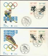 DV13-029 WEST GERMANY 1971 FDC MI 680-683 SPORT, WINTER OLYMPICS SAPORRO 1972. - Winter 1972: Sapporo