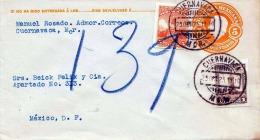 Brief MEXICO 1910 - 5 Centavos Ganzsache Mit 2 Facher Zusatzfrankierung - Mexiko