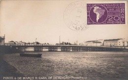 PONTE 6 DE MARCO DE DETENCAO (Pernambuco, Brasilien), Gel.1937, 20 Reis Sondermarke - Brasilien