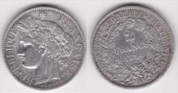 2 FRANCS CERES  1894 A En ARGENT 300.000 Ex (voir Scan) - France