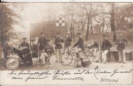 Carte Postale Photo Militaire Allemand BRESLAU-WROCLAW (Polen-Polska-Poland-Pologne) Soldat Vélo-Bicyclette - 2 SCANS - Pologne