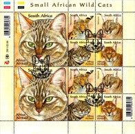 South Africa - 2011 Small African Wild Cats Sheet (o) # SG 1877a - Afrique Du Sud (1961-...)