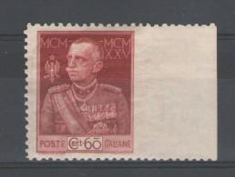 REGNO 1925 GIUBILEO DEL RE 60 C. N.D.** MNH - 1900-44 Vittorio Emanuele III