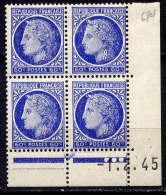 FRANCE - N° 674** - CERES - Coins Datés