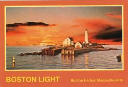 Postcard - Boston Lighthouse, Massachusetts, USA. K-27 - Faros