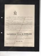 Pvictor De Robiano Née Comtesse De Stolberg-Stolberg °Hanovre 1826 + Grand Marchin 10/5/1901 Rousselière-Clouard SAavign - Todesanzeige