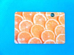 ORANGE - Slices ( Switzerland GlobalOne Prepaid Card ) Elephant GSM Remote Prepayee Carte Suisse Schweiz Svizzera - Switzerland