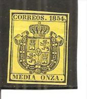 España/Spain-(MH/(*)) - Edifil  28 - Yvert  Servicio-1 (pliegue) - Officials