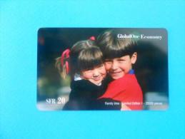 CHILDRENS ( Switzerland GlobalOne Prepaid Card) Child Kid Kids Enfants GSM Remote Prepayee Carte Suisse Schweiz Svizzera - Switzerland