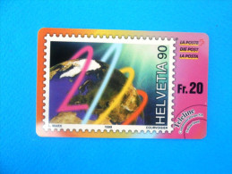 STAMP ON CARD ( Switzerland Rare Teleline Card ) Timbre Postage Stamp On Cards Briefmarke Marca Francobollo Briefmarken - Switzerland