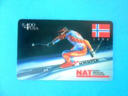 NORWAY FLAG - ALPINE SKIING - Kastle ( Usa NAT Prepaid Card ) Ski Skiing Esqui Schilauf Skilauf Ski Alpin Sci - Vereinigte Staaten